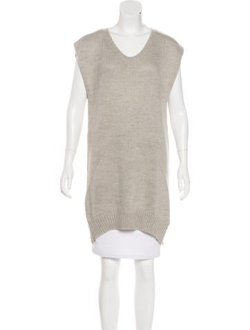 T by Alexander Wang Scoop Neck Knit Tunic None