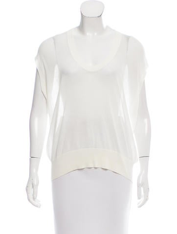 T by Alexander Wang Sheer Knit Top None