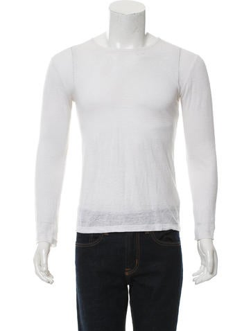 T by Alexander Wang Linen-Blend Long Sleeve Shirt None