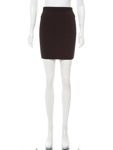 T by Alexander Wang Ribbed Knit Bodycon Mini Skirt None