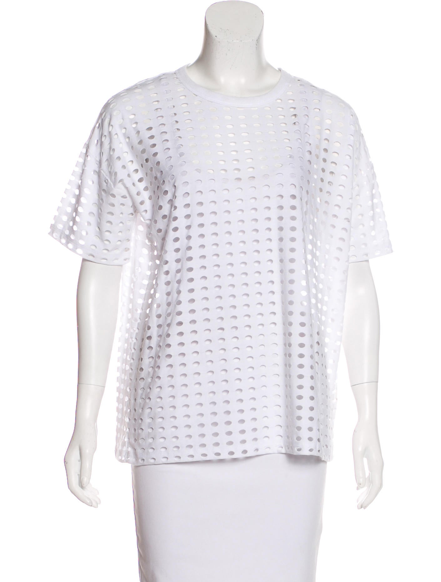 t by alexander wang perforated short sleeve t shirt clothing wtb35246 the realreal. Black Bedroom Furniture Sets. Home Design Ideas