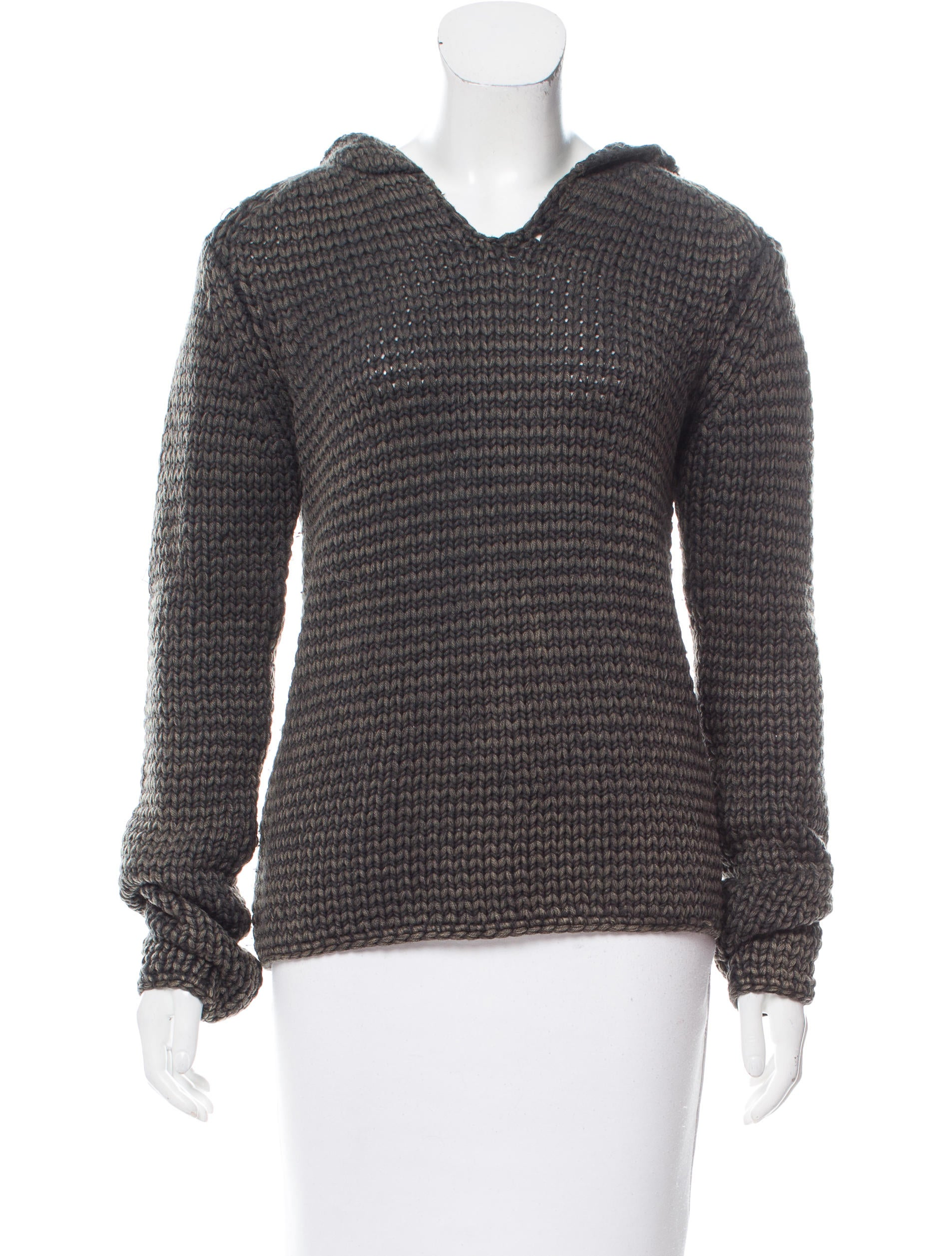 T by Alexander Wang Hooded Wool Sweater - Clothing - WTB35305 ...