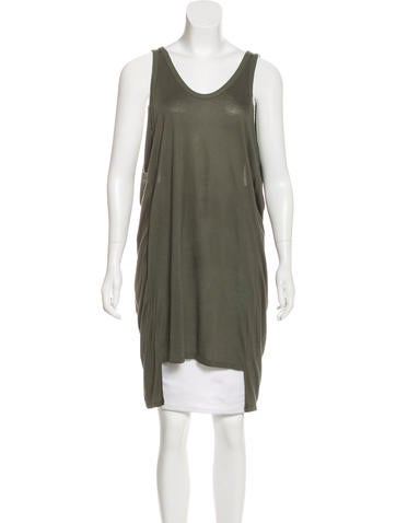 T by Alexander Wang Sleeveless Scoop Neck Tunic None