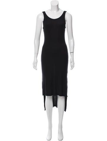 T by Alexander Wang Rib Knit High-Low Dress None