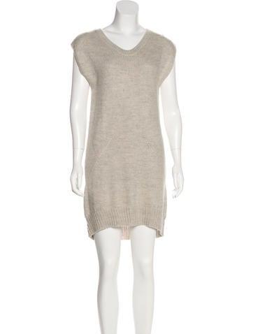 T by Alexander Wang Sleeveless Sweater Dress None