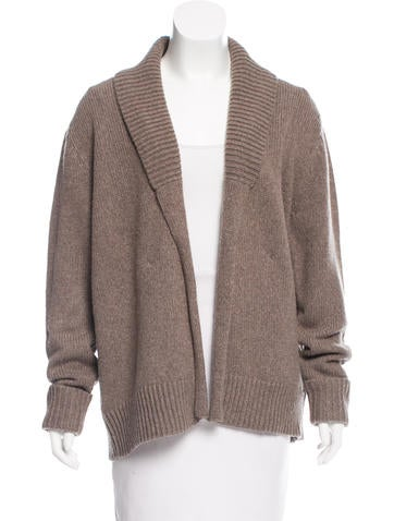 T by Alexander Wang Open-Front Wool-Blend Cardigan None