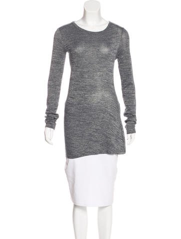 T by Alexander Wang Long Sleeve Knit Top None