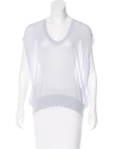 T by Alexander Wang Scoop Neck Knit Top None