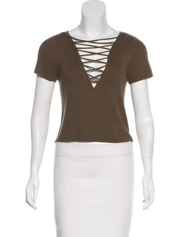 T by Alexander Wang Lace-Up Crop Top w/ Tags None