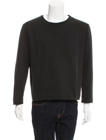 T by Alexander Wang Long Sleeve Crew Neck Sweater None