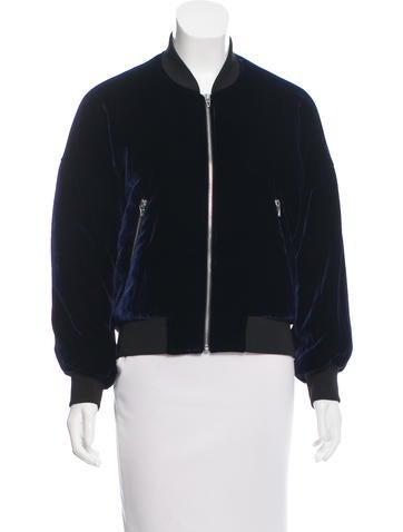 T by Alexander Wang Velvet Bomber Jacket None