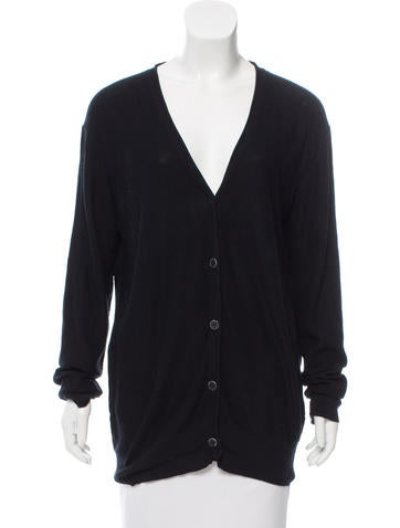 T by Alexander Wang V-Neck Button-Up Cardigan None