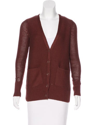T by Alexander Wang Cable Knit Cardigan None