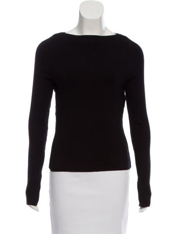 T by Alexander Wang Ribbed Long Sleeve Sweater None