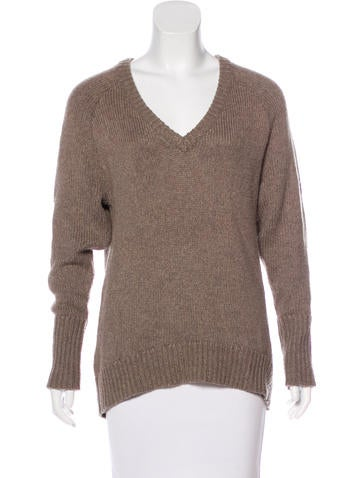 T by Alexander Wang Knit V-Neck Sweater None