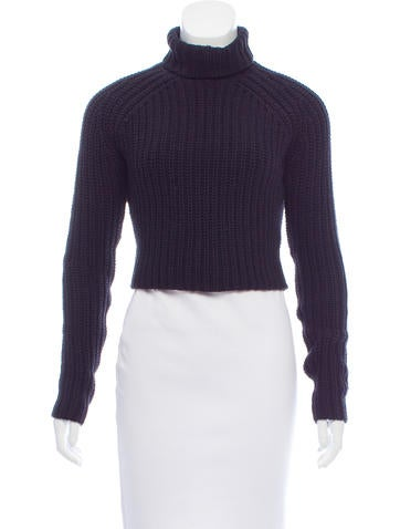 T by Alexander Wang Cropped Turtleneck Sweater None
