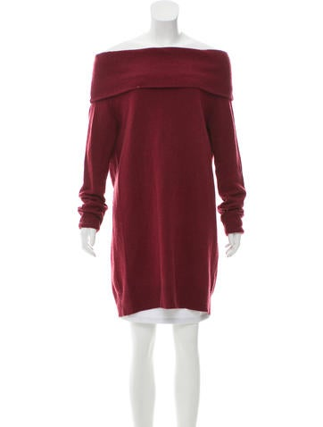T by Alexander Wang Off-The-Shoulder Knit Sweater None