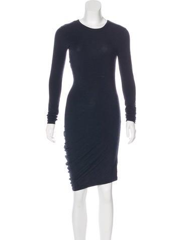 T by Alexander Wang Asymmetrical Knee-Length Dress None