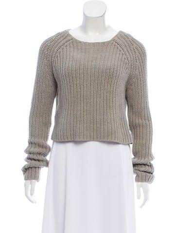 T by Alexander Wang Rib Knit Long Sleeve Sweater None