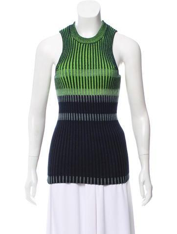 T by Alexander Wang Sleeveless Rib Knit Sweater None
