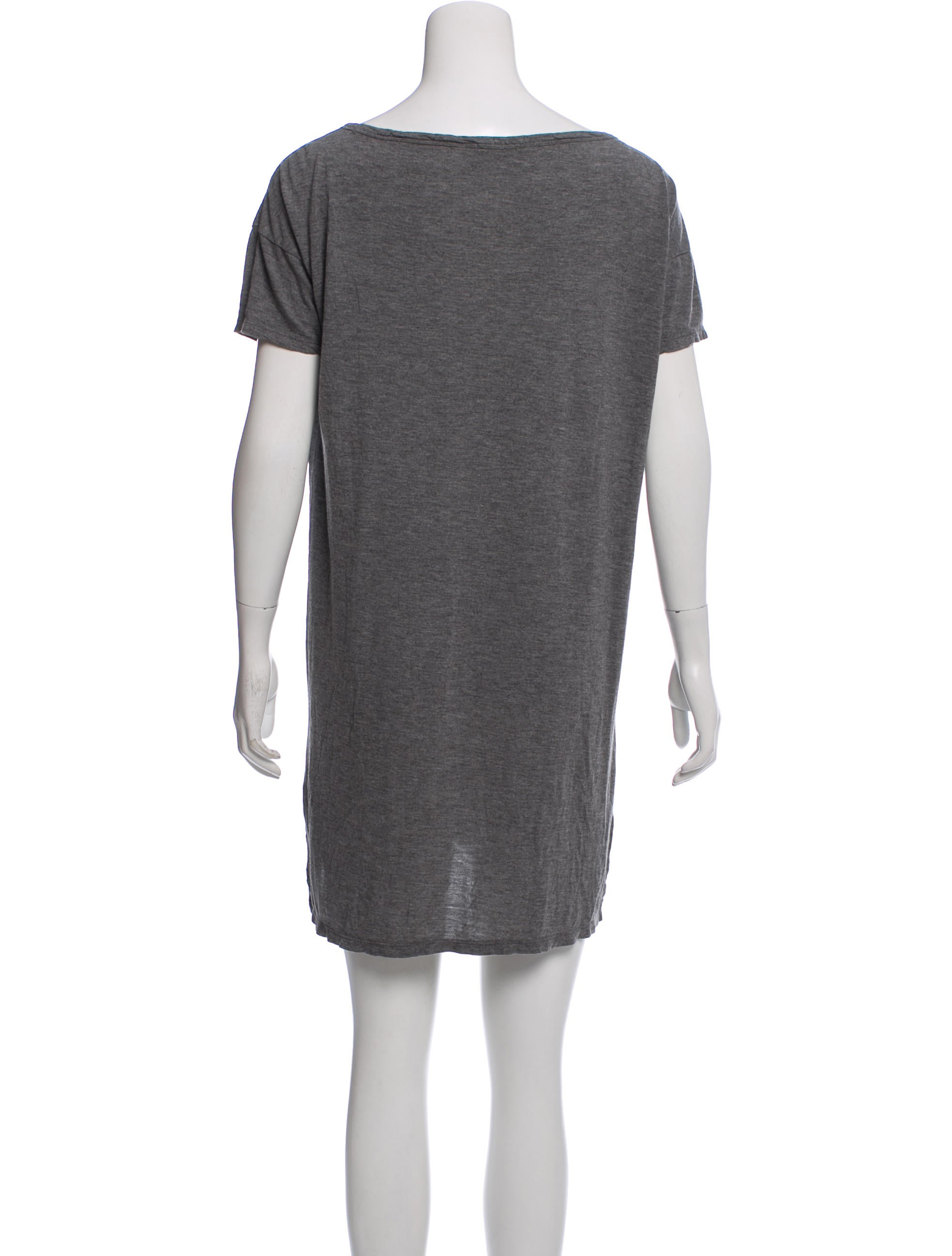 T By Alexander Wang Short Sleeve T Shirt Dress Clothing Wtb39916