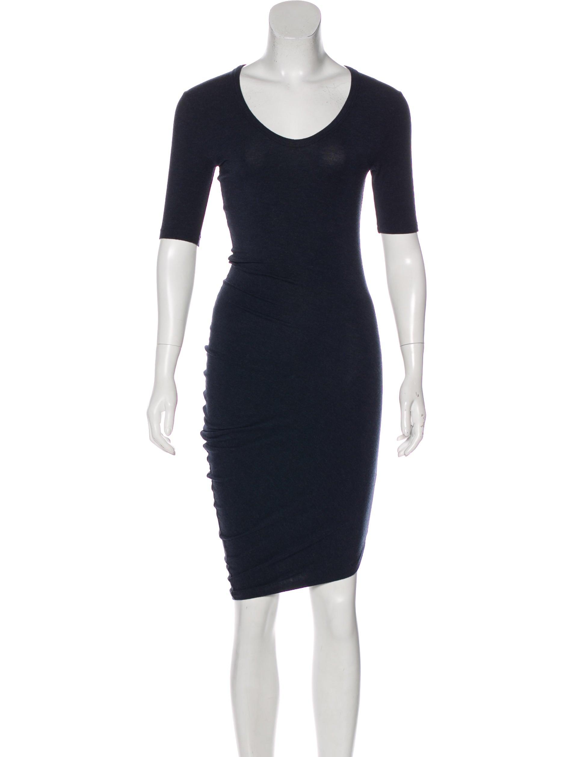 T By Alexander Wang Knee Length T Shirt Dress Clothing Wtb41945