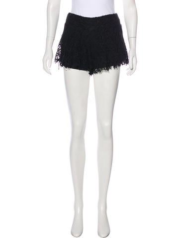 Tbags Los Angeles Lace Mini Shorts None