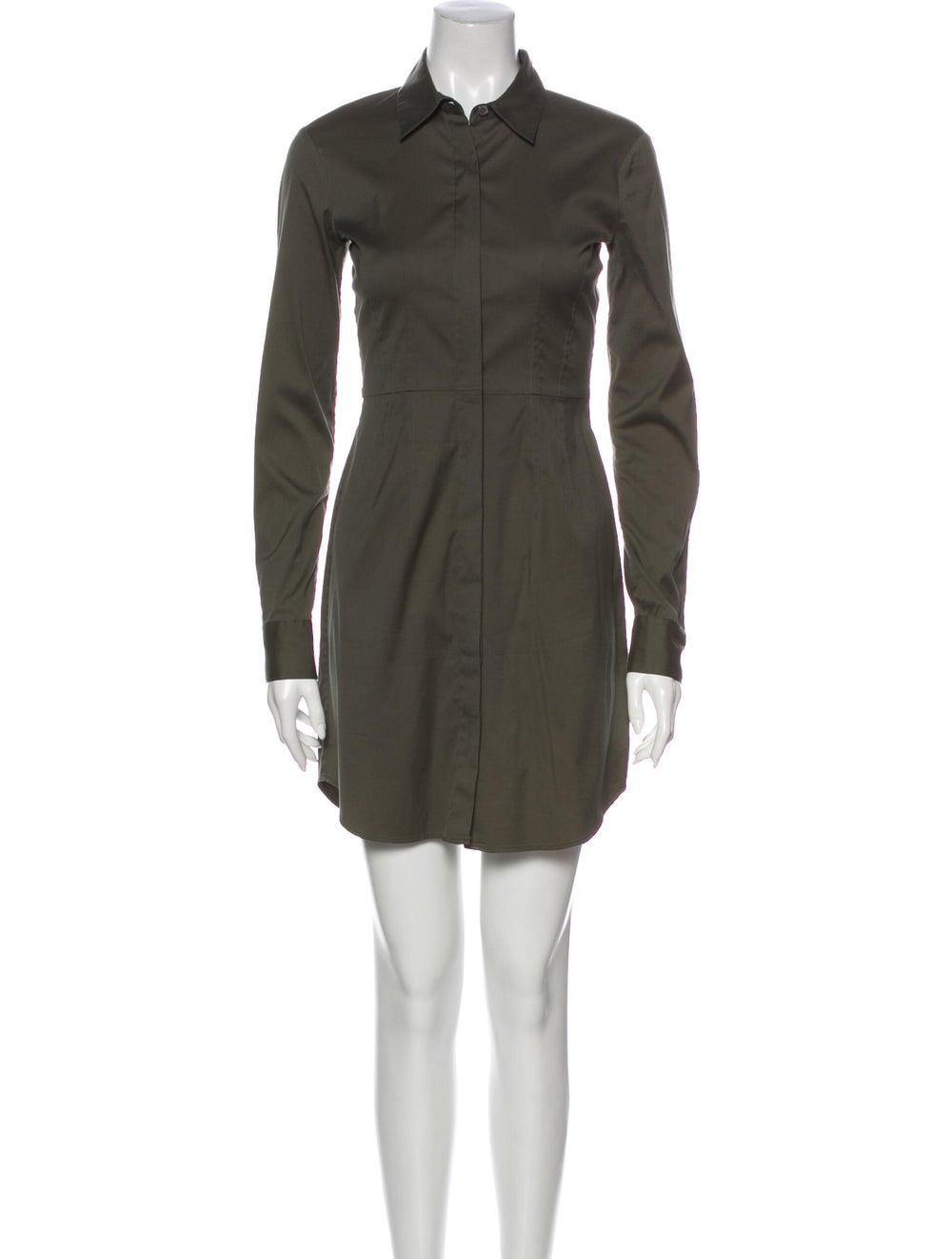 Theory Mini Dress Green - image 1