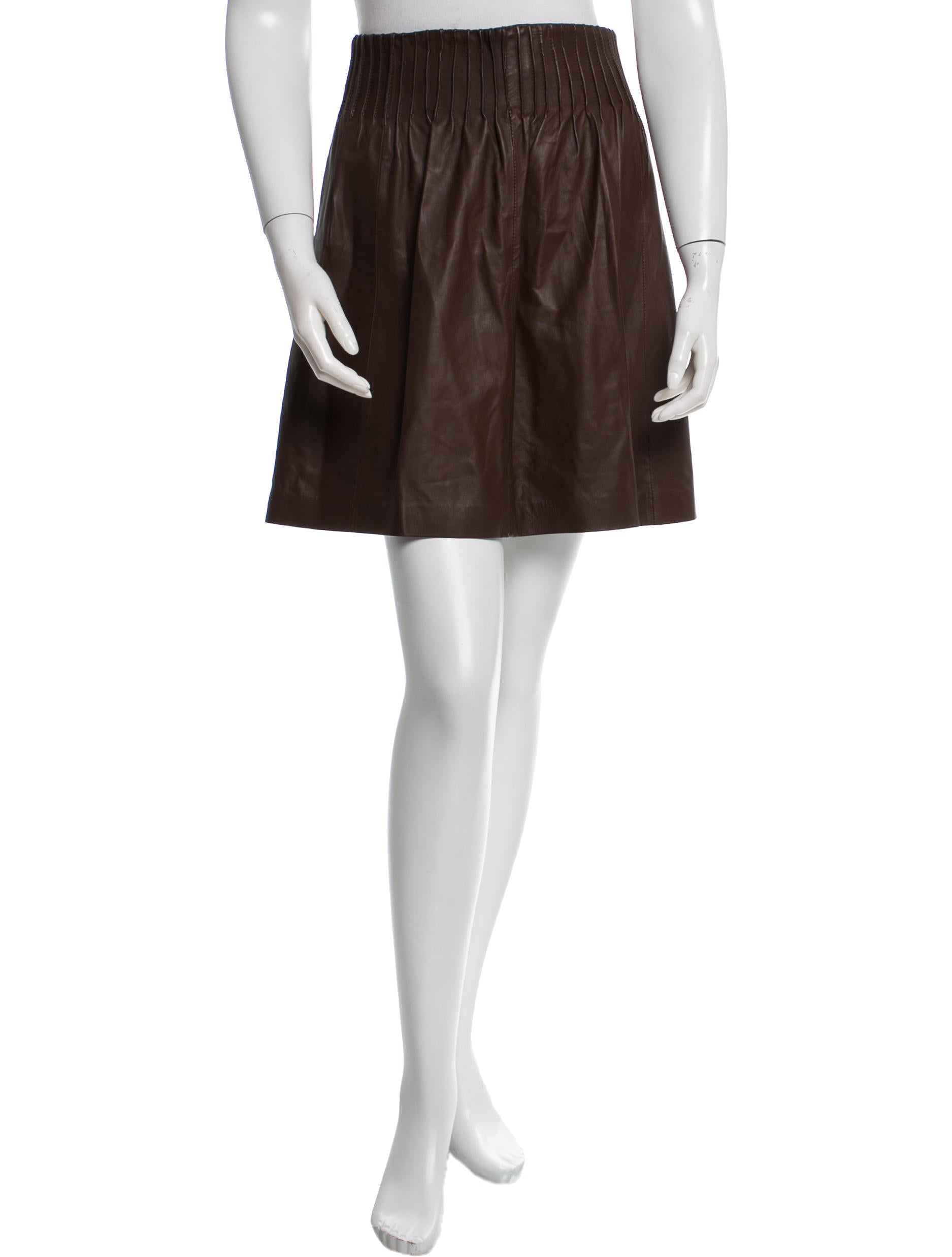 theory pleated leather skirt clothing wte22185 the