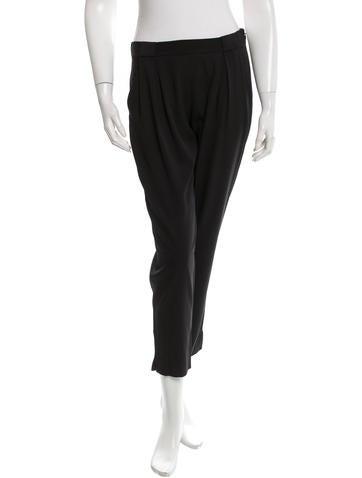Theory Silk Straight Leg Pants