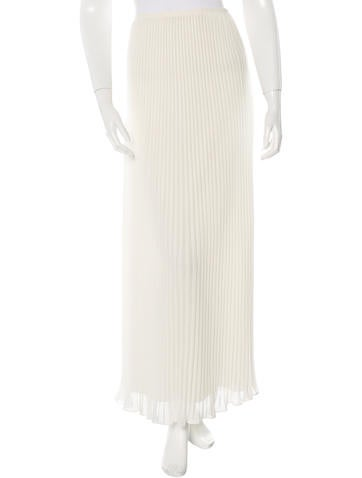 Theory Pleated Maxi Skirt None