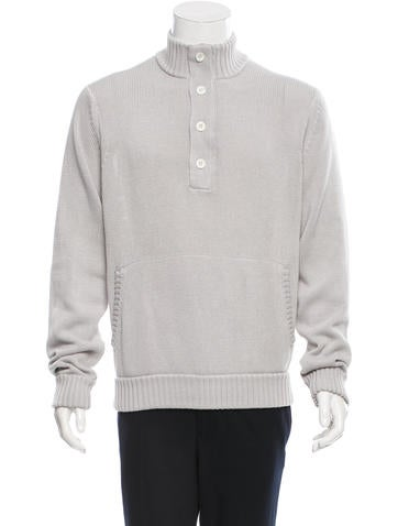 Theory Pullover Half-Zip Sweater None