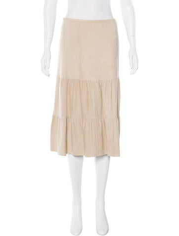 Theory Ellen Suede Skirt None