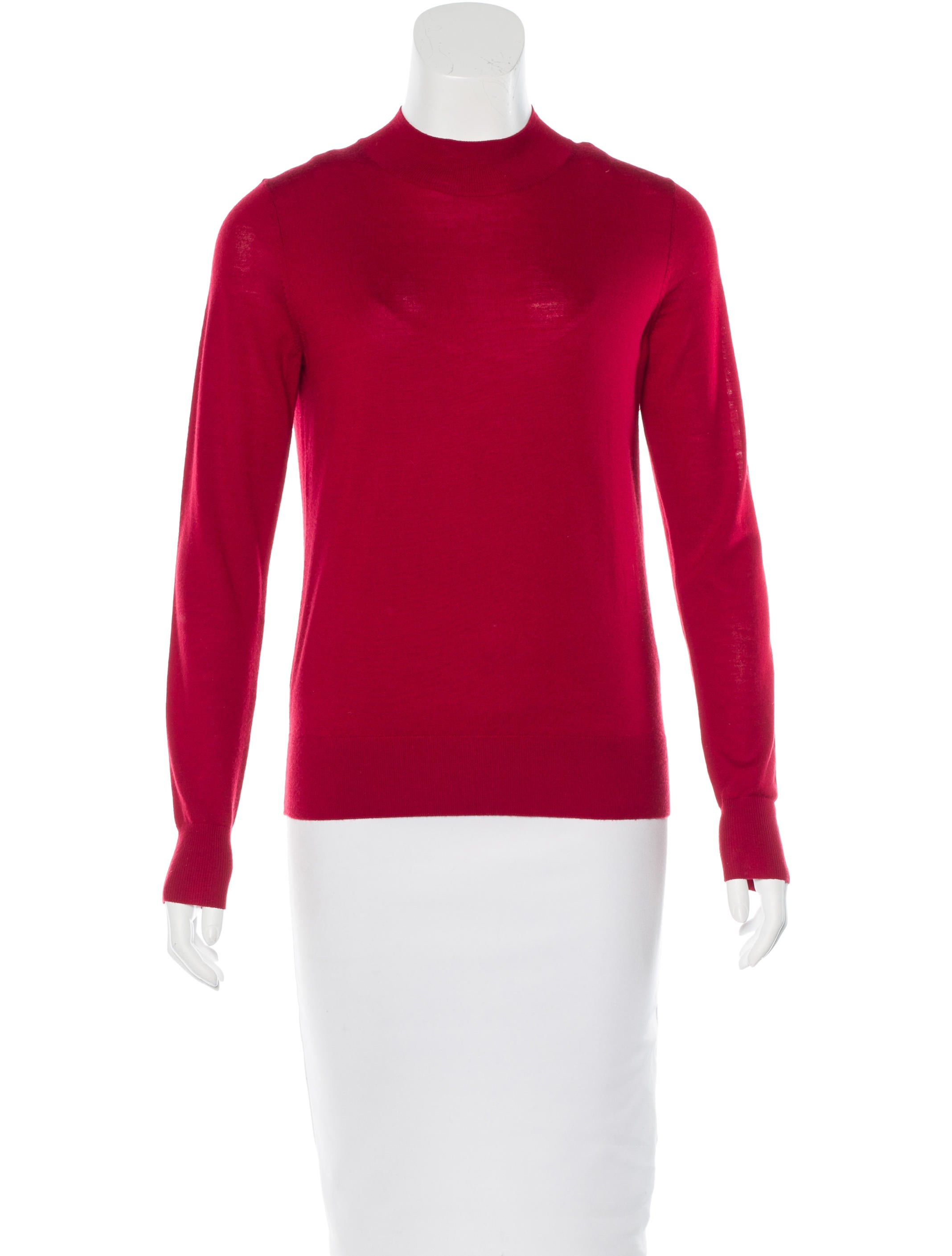 Theory merino wool mock neck sweater clothing wte22582 for Merino wool shirt womens