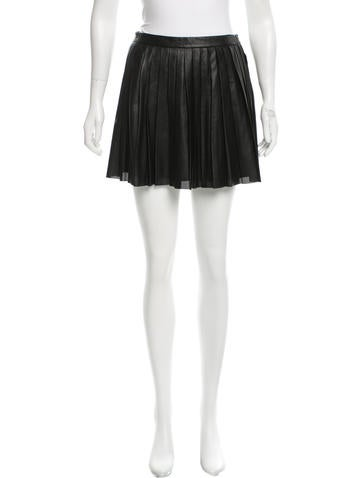 Theory Perforated Leather Skirt None