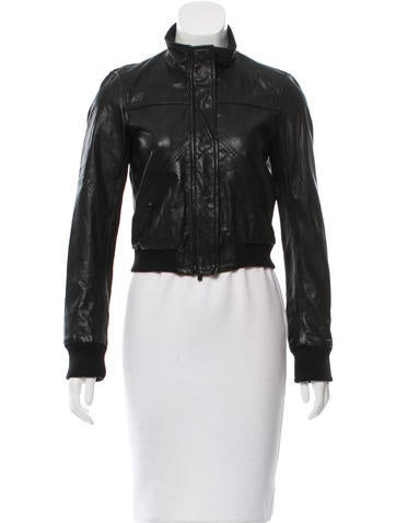 Theory Textured Leather Jacket None
