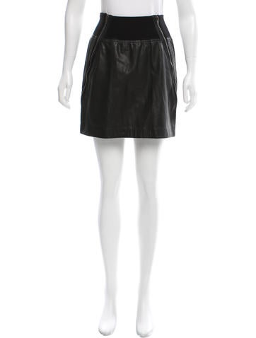 Theory Leather Mini Skirt w/ Tags None