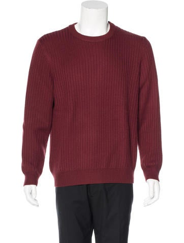 Theory Wool Rib Knit Sweater None