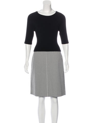 Theory Houndstooth Wool Dress None