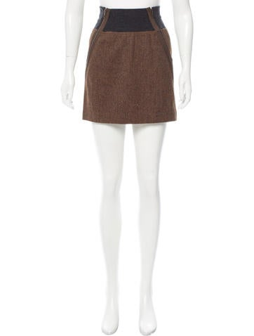 Theory Donegal Knit Virgin Wool Skirt None