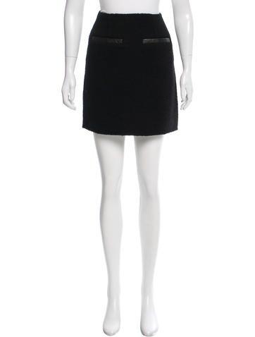 Theory Wool Mini Skirt None