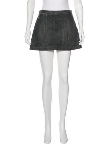 Theory Mini Denim Skirt None