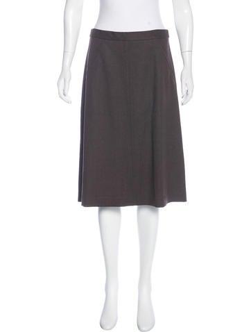 Theory Wool Knee-Length Skirt None