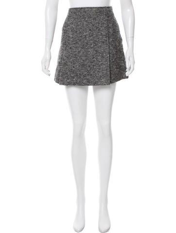 Theory Wool Tweed Skirt None