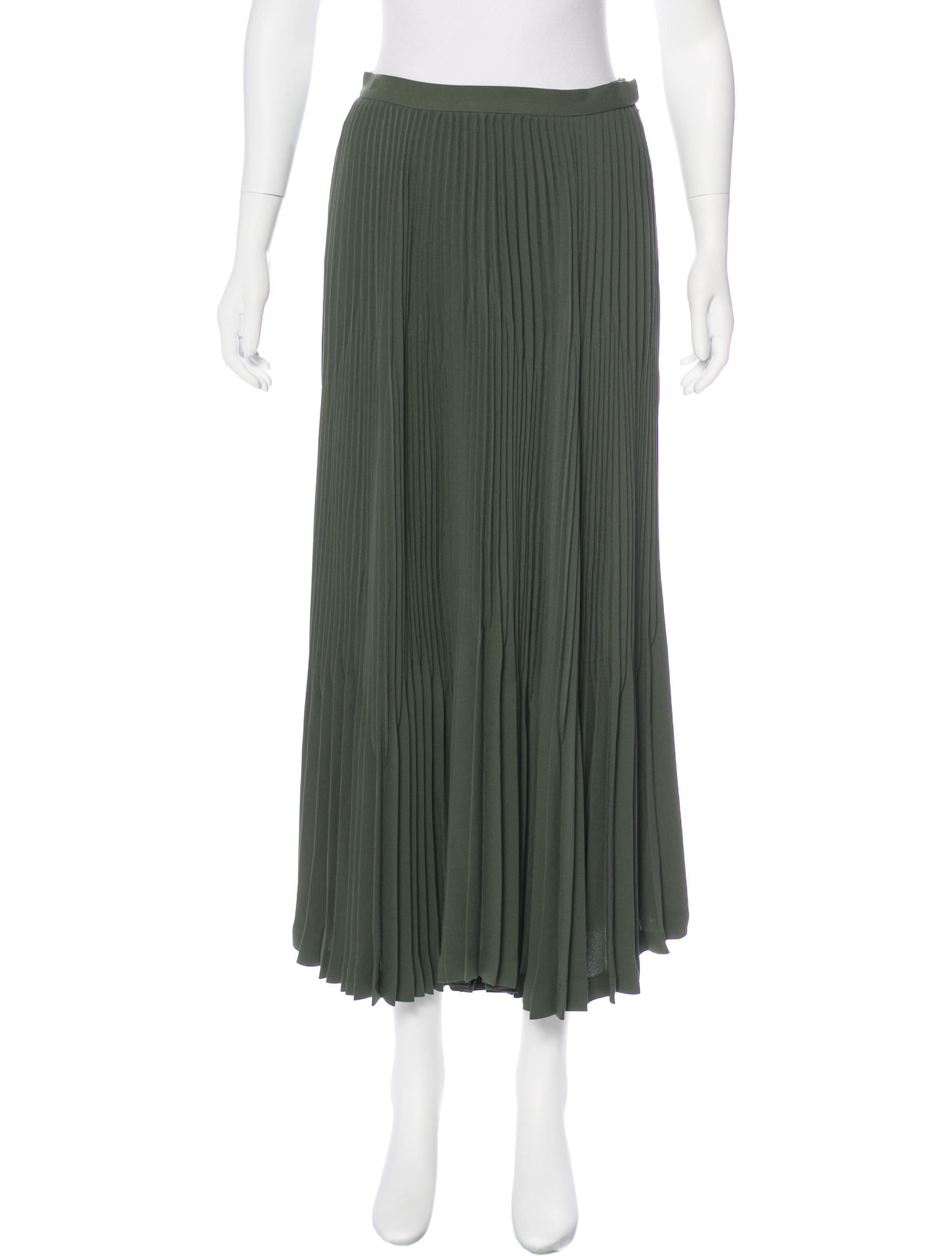 theory pleated midi skirt clothing wte24268 the realreal