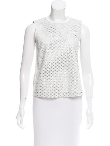 Theory Perforated Leather Top None