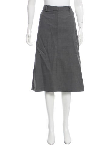 Theory Knee-Length Wool Skirt None