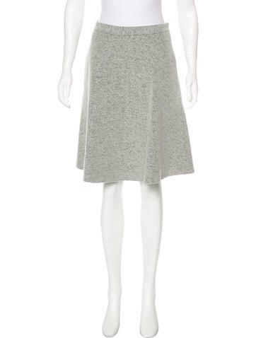 Theory Wool-Blend A-Line Skirt None