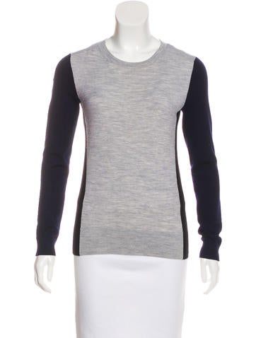 Theory Wool Colorblock Sweater None
