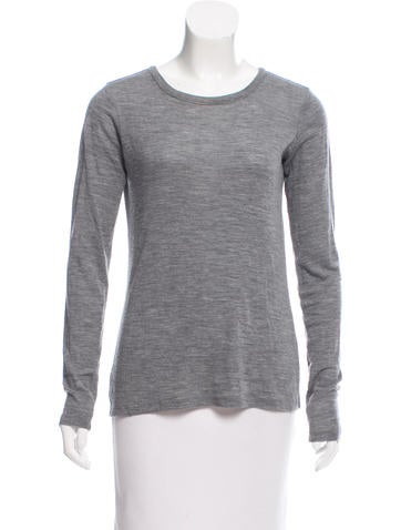 Theory Long Sleeve Wool Top None